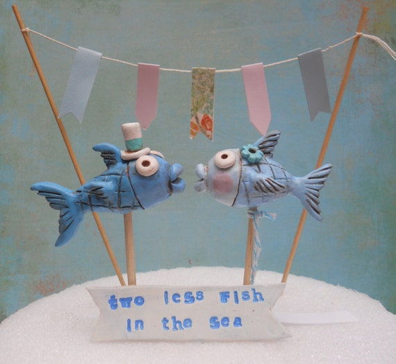 Fish Acrylic Cake Topper