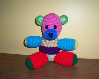 Sale!!!!!!  PATCHWORK TEDDY BEAR