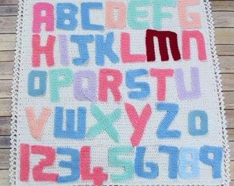 CROCHET PATTERN For Alphabet Letters, Numbers & Afghan Blanket  PDF 51 Digital Download