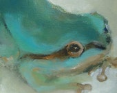 Original Acrylic Painting of a Frog