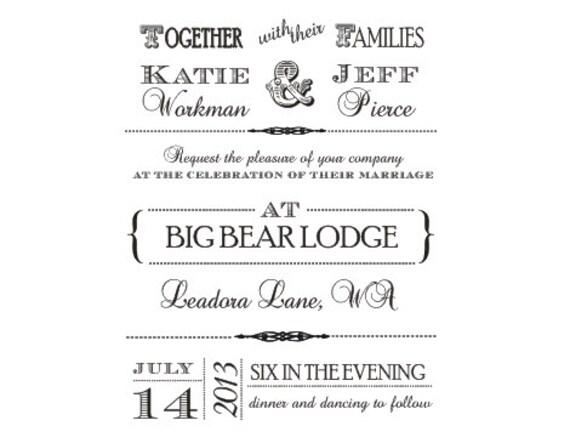 Ähnliche Artikel Wie Spaß Und Vintage Hochzeit Einladung Stempel Für DIY  Lädt Auf Etsy