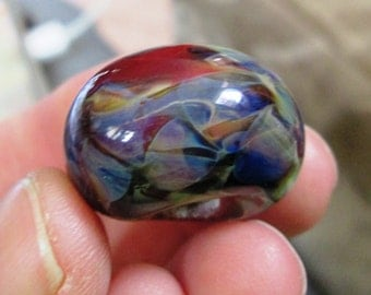 Finland - Vibrant Lampwork Boro Focal Bead with Amazing Colors