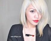 Red Lipstick Glittery NECKLACE mua