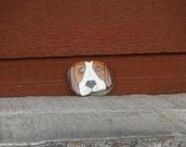 Painted Indiana Lake Michigan rock hound dog