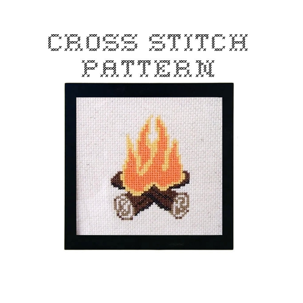 DIY Campfire .pdf Original Cross Stitch Pattern Instant