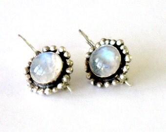 Moonstone Earrings,Moonstone Jewelry, Rainbow Moonstone, Dangle Moonstone Earrings, Moonstone Drop Earrings, Moonstone Jewelry,Drop Earrings