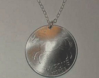 Coin necklace~Norwegian Fjord Horse necklace