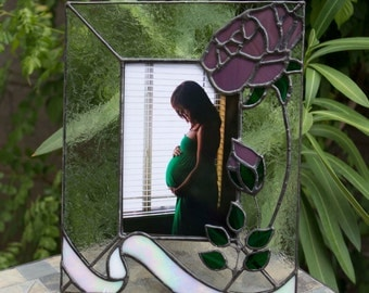 Made to Order Stained Glass Frame with Roses