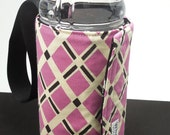 Whats Up Your Sleeve Reversible Insulated Water Sleeve Pink Lattice