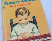 Vintage Rand McNally Book Prayers and Graces for a Small Child