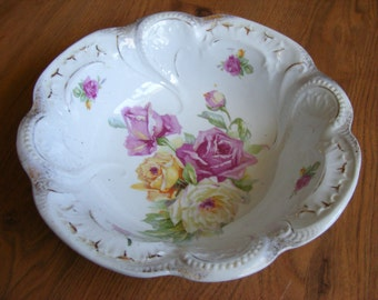 Vintage Bavaria Germany Rose Bowl