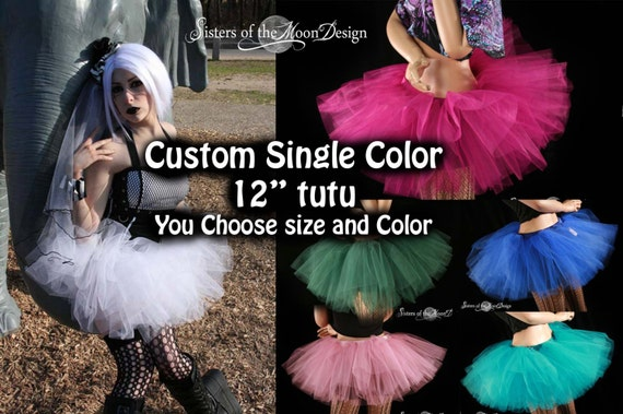 Custom Color tutu skirt Adult race run costume halloween dance petticoat bridal party club - You Choose Size and color - Sisters of the Moon