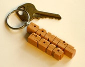 Wood Name Keychain - Graduation 2-Liner - Choose from 5 Domestic Woods - Handmade to Order in the USA
