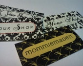 80 Fabric Labels - Sew-On Fabric Labels - Free Customization Using Any Premade Design Shown OR Your Print-Ready Design or Logo