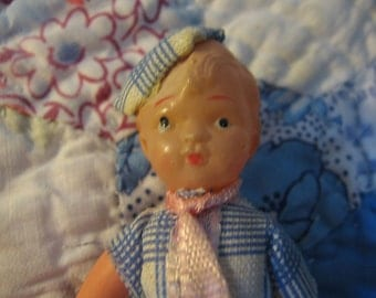 Vintage Celluloid Articulated Boy Doll
