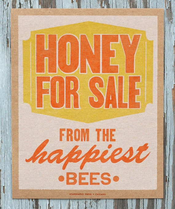 Items Similar To Honey For Sale Vintage Kitchen Decor