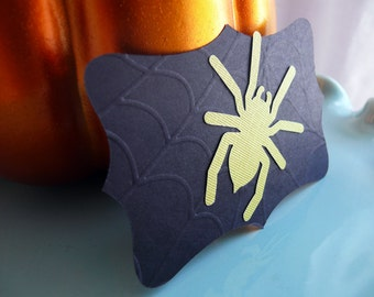 Halloween Spider Tags Scroll Tags
