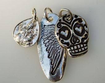 Ganesh, Angel Wing, small Sugar Skull