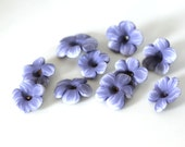 Lavender Flowers, Polymer Clay Beads, Purple Beads 10 Pieces