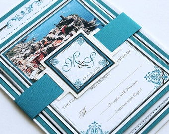 Destination Wedding Invitation and RSVP Wedding Suite - Cinque Terre, Italy