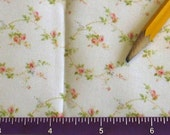 Dollhouse Miniature Victorian UPHOLSTERY FABRIC Peach Rose Vine 1/12
