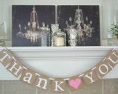 Thank you banner, wedding banner, thank you sign, wedding banners, photo prop banner, thank you, wedding banners, thank you wedding sign