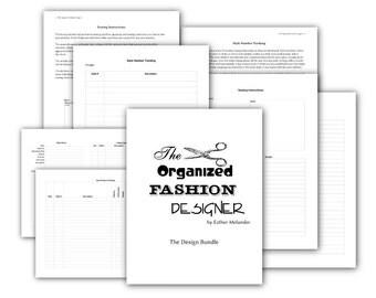 Design Bundle - Printable forms for a fashion designer