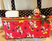 Disney fabric Minnie Mouse SALE 16% off 2 choices Boutique xxlg 11 pockets roomy diaper bag or just great travel everyday purse add a name
