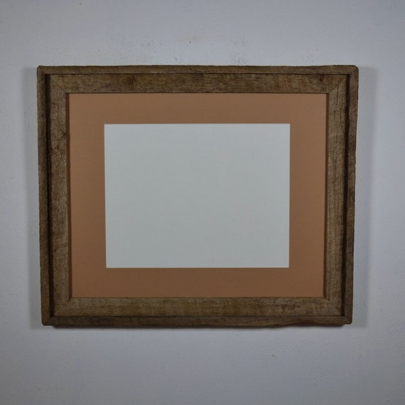 Picture frame 16x20 rclaimed wood 11x14 tan mat for 16x20 frame