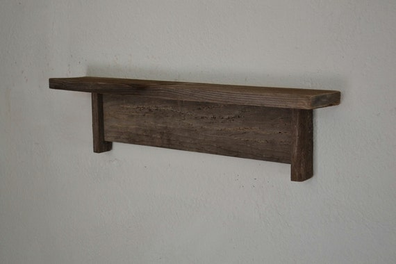 gray reclaimed wood wall shelf rustic wall decor 19 x 3. Black Bedroom Furniture Sets. Home Design Ideas