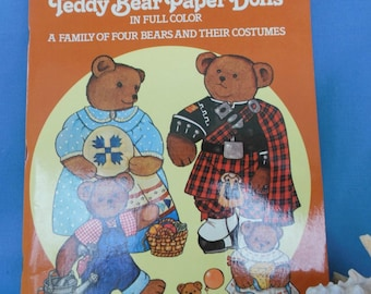Paper Doll Book - Teddy Bears by Crystal Collins 1983