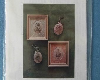 Hardanger Embroidery Chart - Eggs or Ovals by Karen Buell Designs