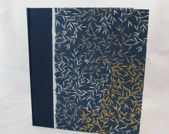 Large Photo Album Blue Willow Branch -  Scrapbook Album, Wedding Album, Photo Booth Album