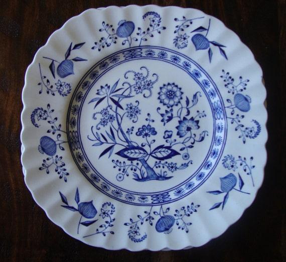 J Amp G Meakin England Classic White Blue Nordic Onion Desert