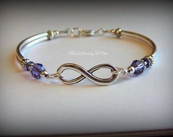 Bridesmaid Set of EIGHT: Bridesmaid Infinity Bracelet, Wedding Jewelry, Bridesmaid Infinity Jewelry, Bridal Jewelry, Jewelry For Brides