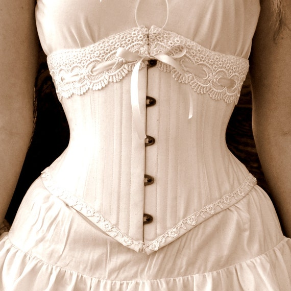 Rustic Weddings- Lingerie Woodland Natural  Boho Underbust Corset Accessories