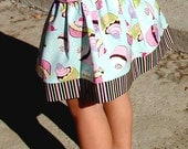 Clearance Sale Cupcake Twirl Skirt Toddler Baby Girl Fits Size 3T.