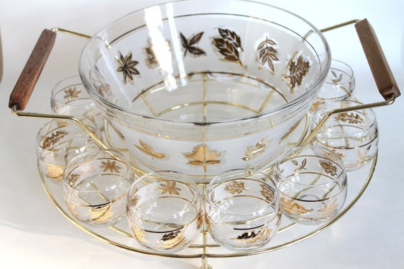 vintage punch bowl midcentury starlyte punch bowl set. Black Bedroom Furniture Sets. Home Design Ideas