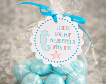 Under the Sea Collection - Fantastic Favor Tags with Bags from Mary Had a Little Party