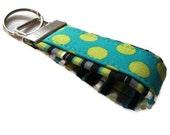 Mini Fabric Key Fobs - Lagoon Dots - Key Chains