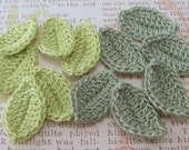 Crochet Leaves| Frosty Green|Wasabi|Set of 12