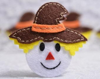 Set of 6pcs handmade felt scarecrow--chocolate (FT957)