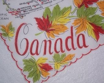 Vintage Canada Hanky - Handkerchief Hankie