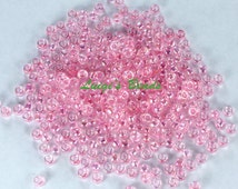 8/0 Round TOHO Glass Seed Beads #171- Dyed-Rainbow Ballerina Pink 15g