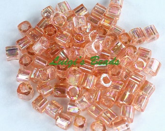 15g Trans-Rainbow Rosaline #169- TOHO Japan Cube Glass Seed Beads 4mm