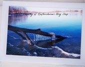 Photo Card Ice Over the Lake