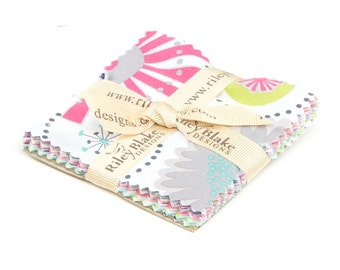 "SALE 3.5"" inch charm squares GRACIE GIRL Bitty Stacker charm pack from Riley Blake by Lori Holt"