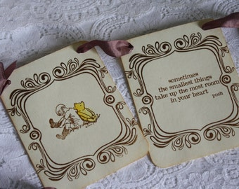 Classic Winnie the Pooh - Petite Vintage Style Banner - Baby Shower Garland