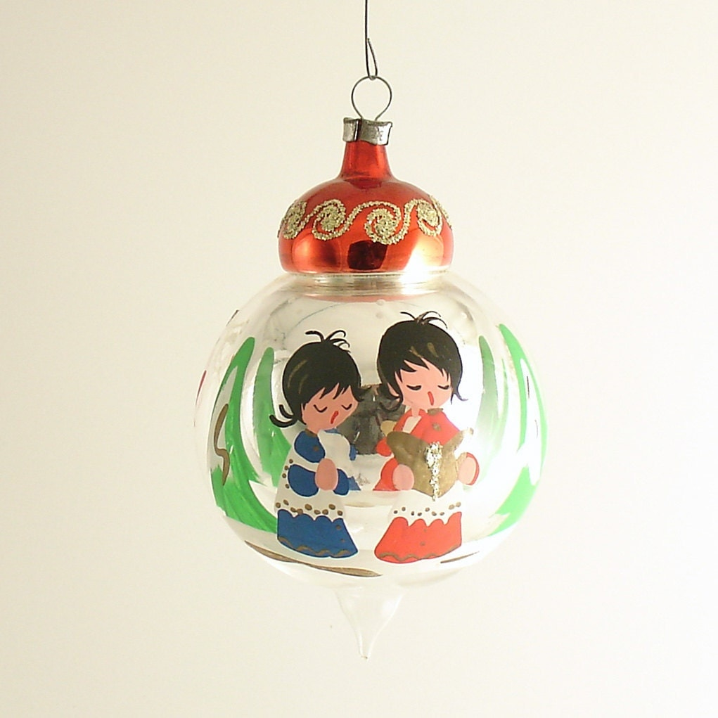 Vintage Glass Christmas Tree Ornament Italy By Efinegifts