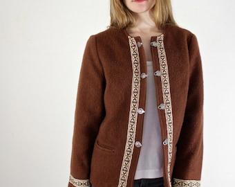 Nordic Wool Coat • Wool Coat • Wool Jacket • Cropped Wool Jacket • Woolen Coat • Woolen Jacket • 60s Blazer • 60s Coat • 60s Cropped Jacket
